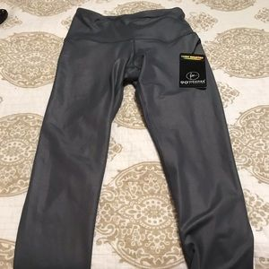 High waisted gray leggings